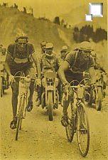 Famosos na época dourada do ciclismo